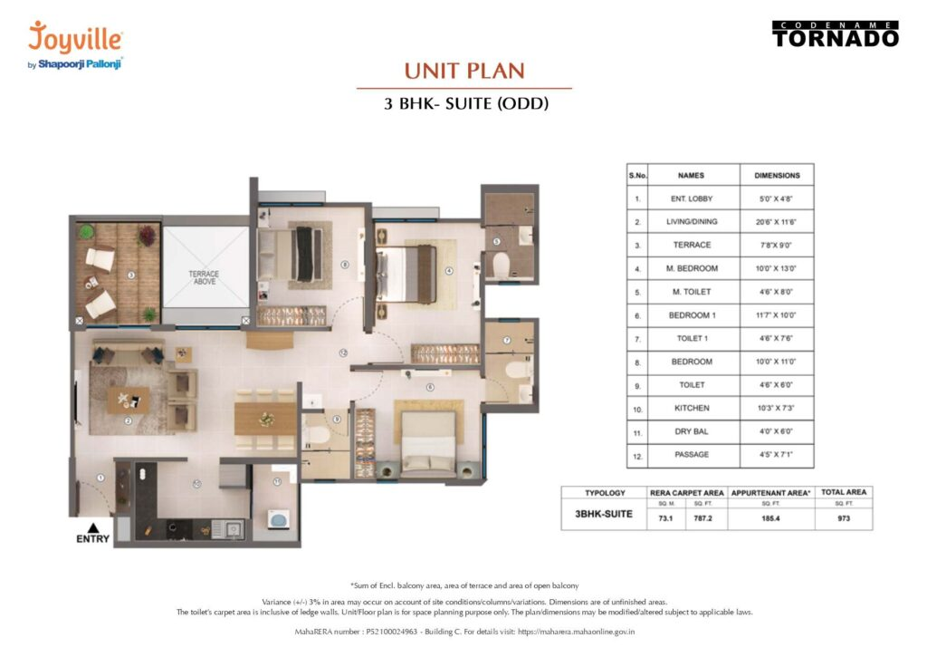shapoorji pallonji tornado floor plans